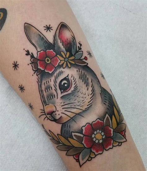 rabbit tattoo kit 40 adorable rabbit design ideas tattoobloq