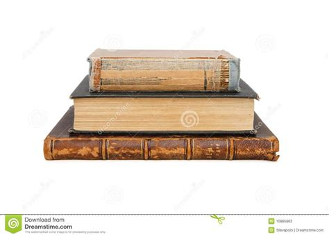 what is l stack stack of three old books isolated stock image image