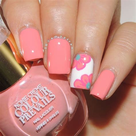 nail color designs 25 best coral nail designs ideas on
