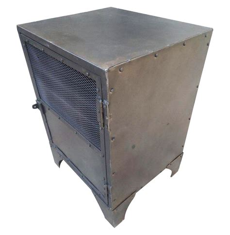 Locker End Table vintage industrial steel shoe locker end table kathy kuo