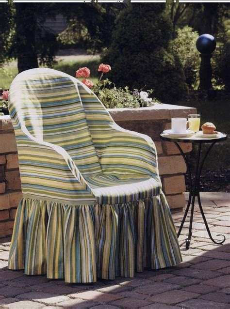 Plastic Patio Chair Covers Free Pattern For Resin Chair Slip Cover Sewing For Outdoor Spaces Easy Fabric Projects For