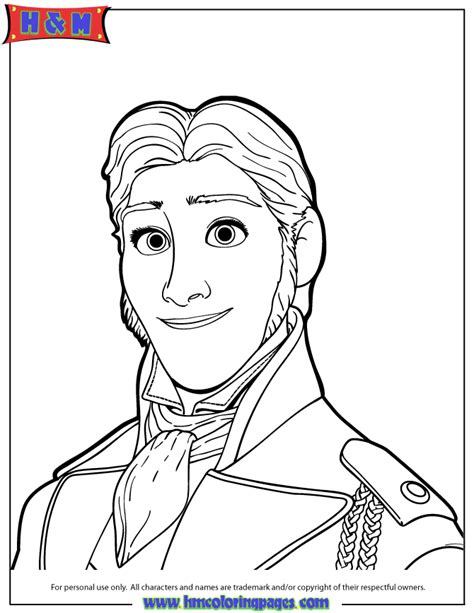 portrait of hans coloring page h m coloring pages