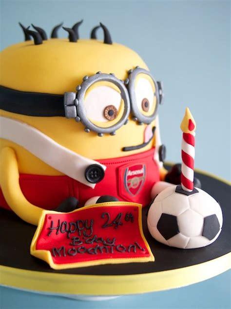 Football Minions Arsenal minion arsenal cake baking to be football