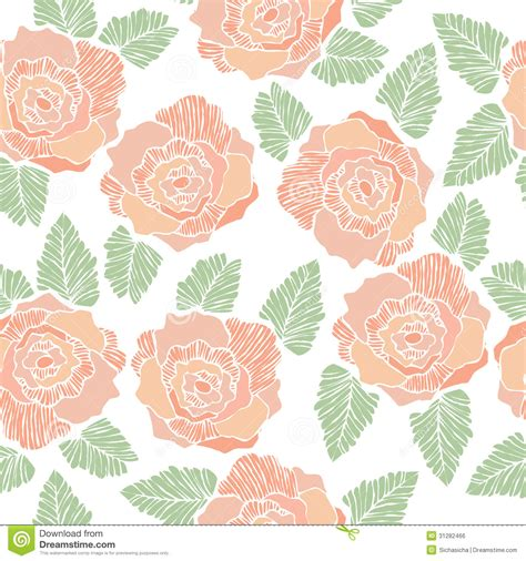 pattern flowers illustrator seamless background pattern of rose flower stock vector
