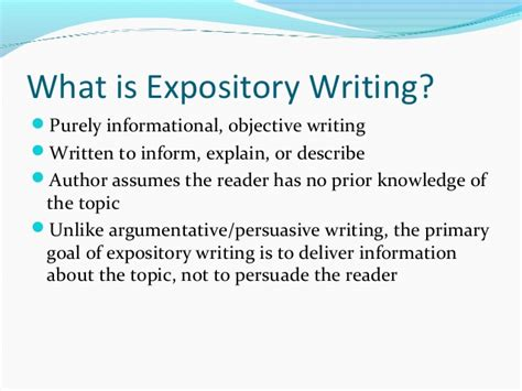 What Is Expository Essay 104 expository writing