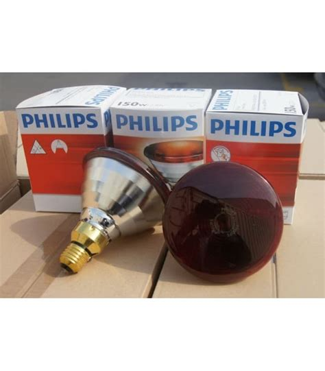philips 150w infrared heat l bulb par38 150w e27 red ir healthcare