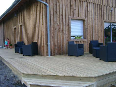 terrasse 60m2 pose terrasse bois landes 40 terrasse en bois blanc