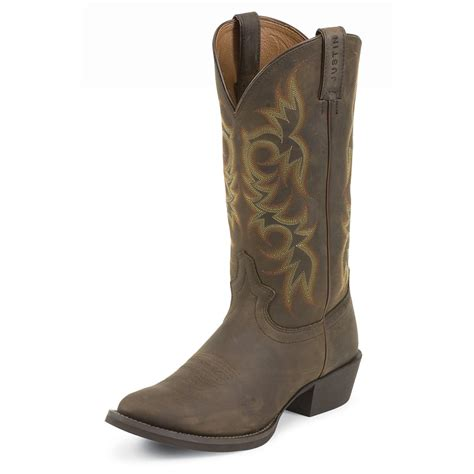 western s boots s justin 174 13 quot stede western boots sorrel apache