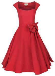 Rockfrocks com classic vintage style dress with bow detail