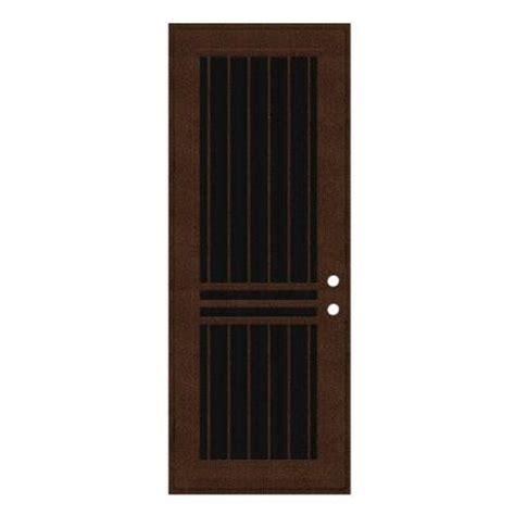 Home Depot Security Screen Doors Unique Home Designs 36 In X 96 In Plain Bar Copperclad