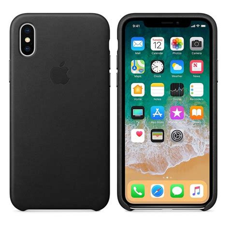 apple x case apple iphone x leather case black apple from powerhouse