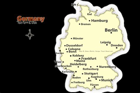 map of germany and cities german cities map best places to visit in germany