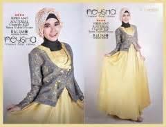 Dress Batik Nisa Polos Dn 04 koleksi baju gamis