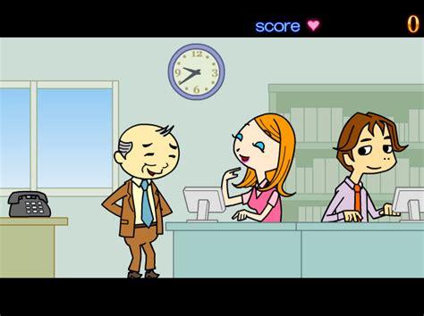 jeu de bisous au bureau