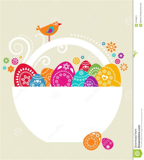 free easter card templates for photographers easter card template 9 stock vector illustration of
