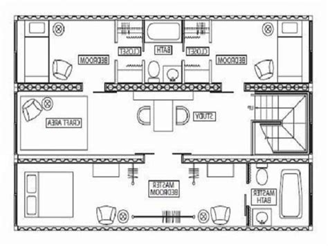 Box House Plans by Conex House Plans Container House Design