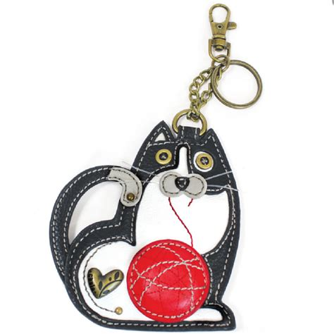 Chala Coin Purse Key Fob chala cat key chain coin purse leather bag fob charm