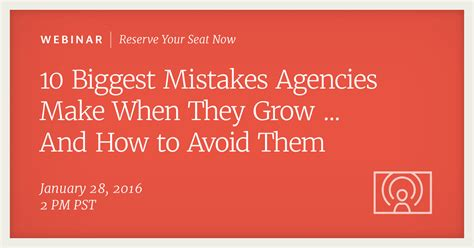 Organizations 10 Mistakes That Most Make by Here S How To Avoid The Top 10 Mistakes Most Growing