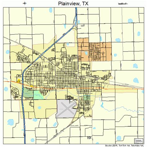 plainview texas map plainview texas map 4857980