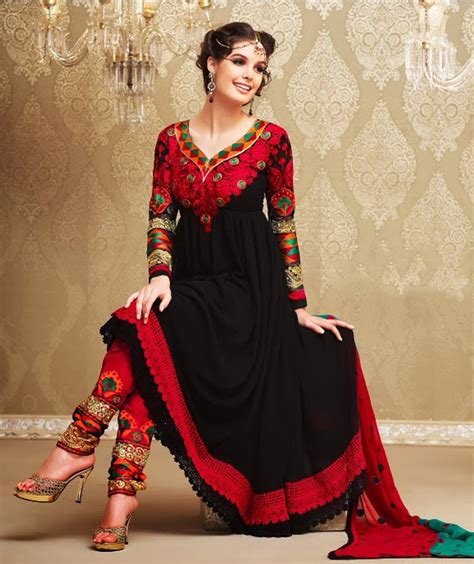 esbuzz best movie new style for 2016 2017 black anarkali suit