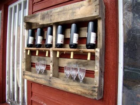 Wine Rack Made From Wooden Pallets by Wine Racks And Bars Made Of Recycled Wooden Pallets
