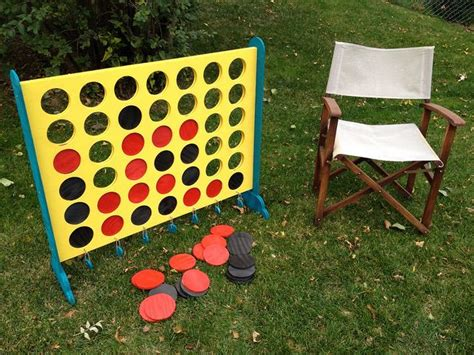 large connect 4 yard made with plywood spray paint