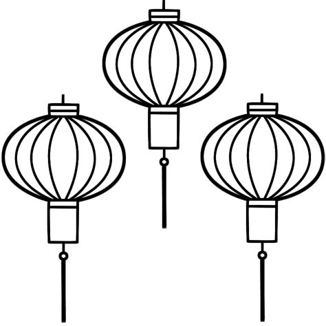 chinese lanterns drawing clipart best