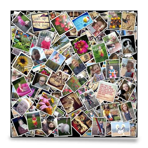photo collage at home square photo collage canvas print smile canvas prints