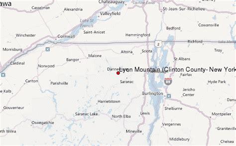 regional map local map detailed map lyon mountain clinton county new york mountain information