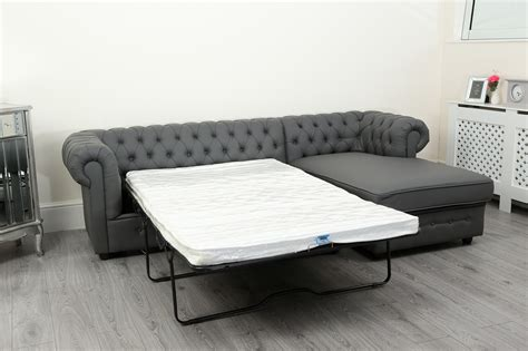 leather chesterfield sofa bed empire chesterfield corner sofa bed in grey pu leather