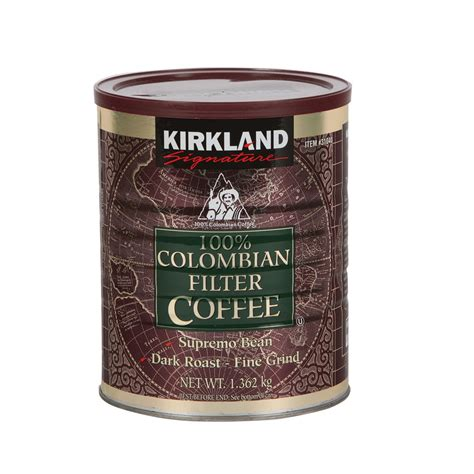 Kirkland Signature 100% Colombian Filter Coffee, 1.362kg   Costco UK