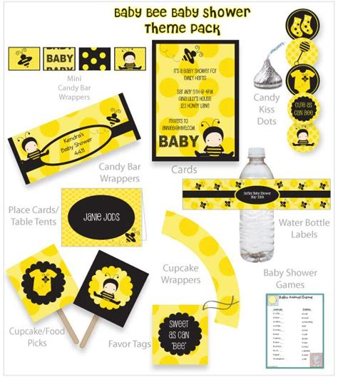 Bee Baby Shower Decorations by Baby Bee Baby Shower Theme Pack Baby Bee Baby Shower