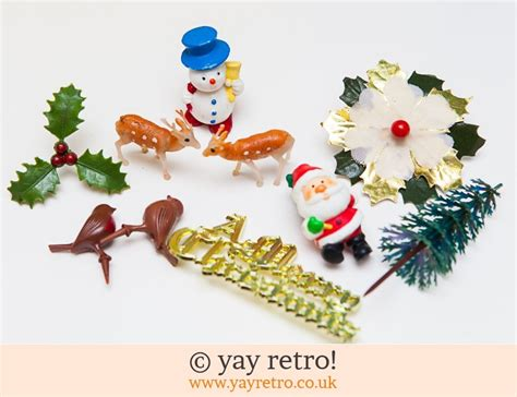 vintage retro reindeer plasticcaketopper uk vintage cake decorations uk psoriasisguru