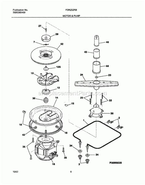 frigidaire gallery dishwasher parts diagram frigidaire fdr252rbb1 parts list and diagram