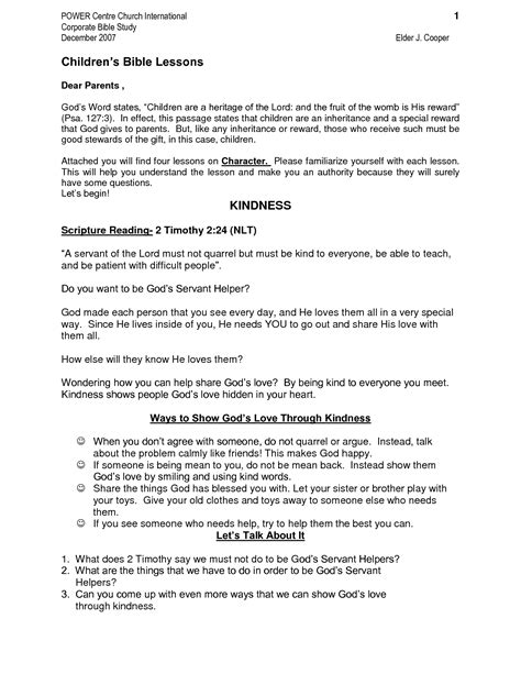 Free Printable Bible Study Worksheets by Bible Study Lessons Youth Printable Materials