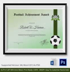 football certificate templates free 10 football certificate templates free word pdf