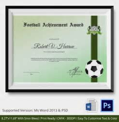 Football certificates templates uk pics for gt football 1040720 football certificate template soccer award yelopaper Image collections