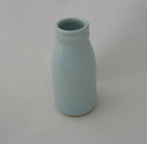Duck Egg Blue Vase by Small Duck Egg Blue Milk Bottle Vase Felt