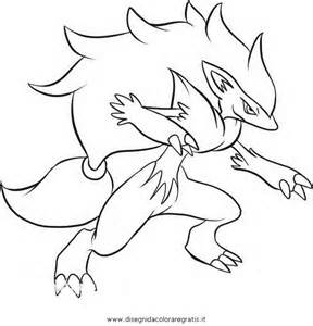 Pokemon Zoroark Coloring Pages Sketch Page sketch template