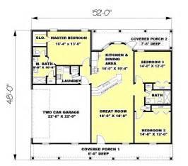 L Shaped Shower Bath 1700 ranch style house plan 3 beds 2 baths 1500 sq ft plan