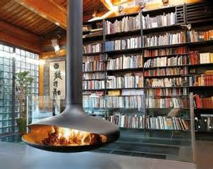 Compact Homes Hanging Stove Modern Luxury Fireplaces Interior Design