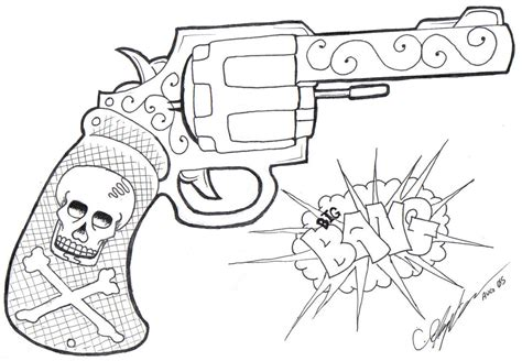 skull gun tattoo designs gun images designs