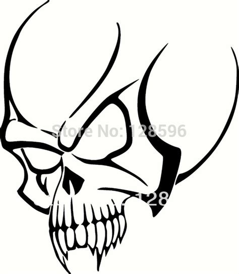 simple vinyl tattoo aliexpress com buy tribal skull for car window tattoo