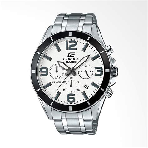 Jam Tangan Pria Edifice Casio Black Silver jual casio edifice chronograph bahan tali stainless steel