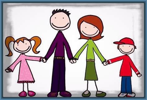 imagenes de familias felices animadas felices los 4