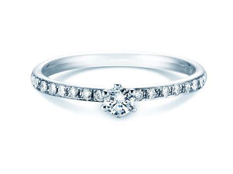 Verlobungsringe Weißgold Mit Diamant by Verlobungsring Classic Pav 233 In 18 Karat Wei 223 Gold 750