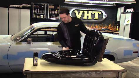 Vinyl Upholstery Dye - painting car seats with vht vinyl dye restoration of