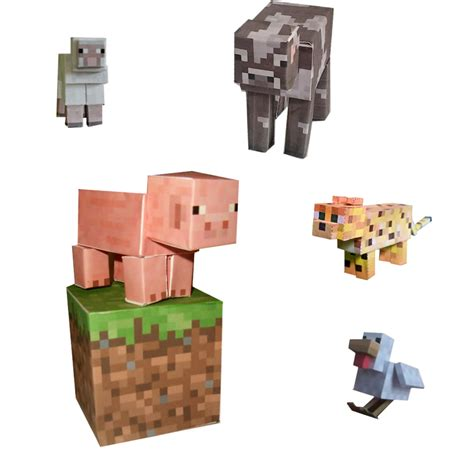 Minecraft Papercraft Animal Mobs Set - minecraft animals papercraft www imgkid the image