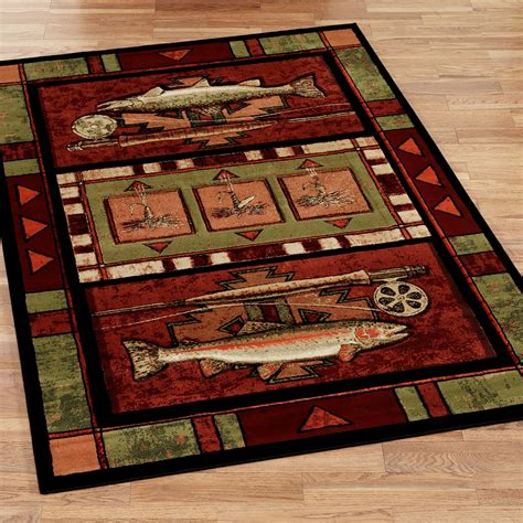 fishing rug rainbow trout fishing area rugs