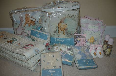 winnie the pooh nursery bedding set classic winnie the pooh baby disney crib bedding complete set 7 pcs bonus ebay